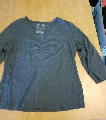 Women's Shirt Size Large L Long Sleeve Sonoma Gray Cotton