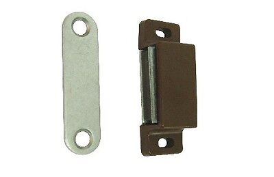 Magnetic Catches Kitchen Cabinet Cupboard 6Kg Pull Heavy Duty Top Quality Brown