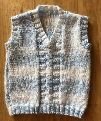 Hand Knitted Baby Boys Tank Top