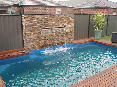 Fibreglass Swimming Pool 6.4m Contemporary INSTALLED