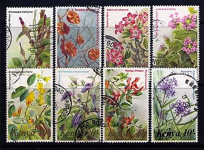 KENYA Stamps 1983 Flowers Sc#247-61 SG#257-71 Used