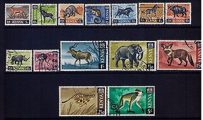 Kenya Stamps ,Wildelife Sc#20-33,Used