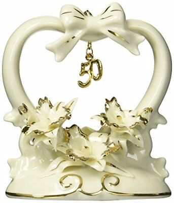 Appletree Design 50th Anniversary Orchid Cake Topper, 4-1/2-Inch Tall