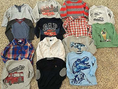 Lot of Boy's Size 3 Shirts/Sweaters 14 Items Gap, Gymboree, ON, Hanna Andersson
