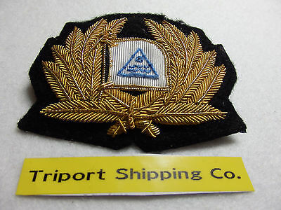 "Merchant Navy  cap badge  ""Triport Shipping Co""  London 1960's"
