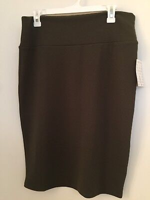 NEW Lularoe Solid Olive Green Cassie Skirt Size L Large