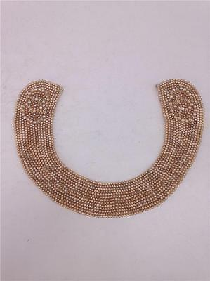 Vintage Beaded Faux Pearl Collar Necklace - Made in Japan