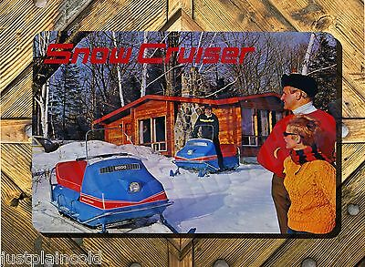 Snow Cruiser vintage snowmobile brochure style wall sign