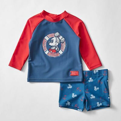 NEW Disney Baby Mickey Mouse Long Sleeve Swim Set Kids