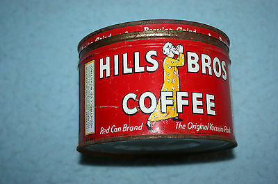 Vintage Hills Brothers One Pound Tin With Lid 1945