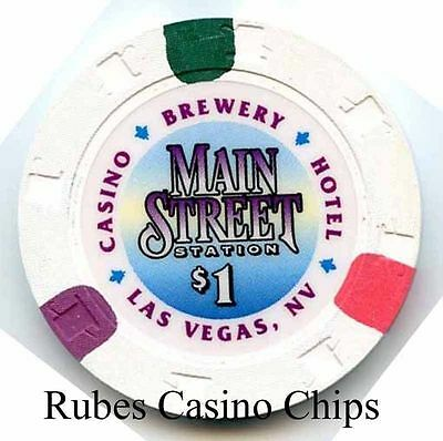 1.00 Chip from the Main Street Staiton Casino in Las Vegas Nevada