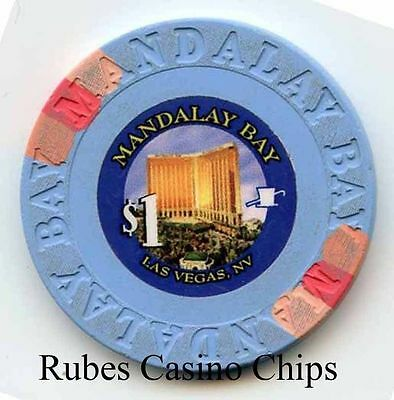 1.00 Chip from the Mandalay Bay Casino in Las Vegas Nevada Small Inlay