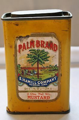 Vintage Palm Brand Paper Label Tin Can S. Hamill Co. Keokuk Iowa