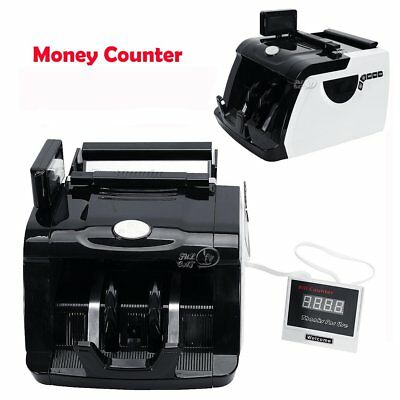 Money Bill Currency Counter Counting Machine Bank Counterfeit Detector UV & MG