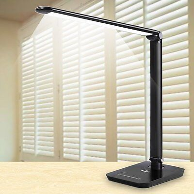 8W Dimmable LED Desk Lamp Folding Table Lamps Bedroom Reading Book Light 7-Level