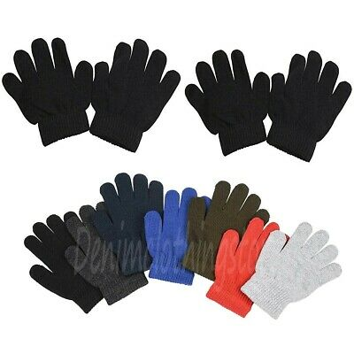 Boy's Girl Kid  Assorted Colors Winter Magic Gloves Warm Knitted Wholesale Lots