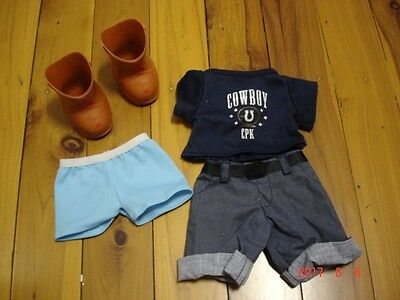 cabbage patch dolls clothes lot 1 cowboy outfit boys