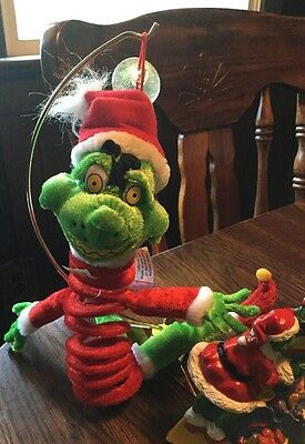 Grinch Picture Frame And  Grinch Slinky Pet
