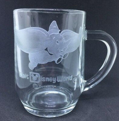 Walt Disney World Dumbo Etched Glass Mug