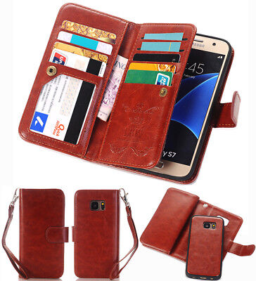 Magnetic Filp Faux Leather Cell Phone Cover Case Wallet For Samsung Galaxy S8