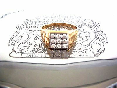 Vintage 9Ct Solid Gold (375) Gents  Ring  ~  English Hallmarks Birmingham 1978