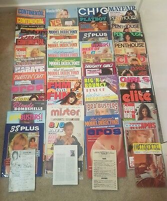 Vintage Adult Mens Magazines Bulk Lot.