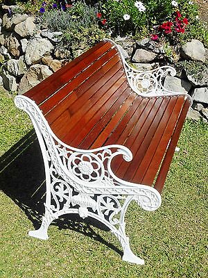 Vintage Cast Iron Garden Bench- COMPLETELY RESTORED! absolutely beautiful