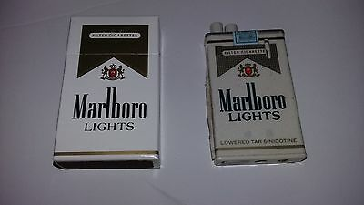 Marlboro lights butane Lighter  w/ matching pack of matches VINTAGE 1980's RARE