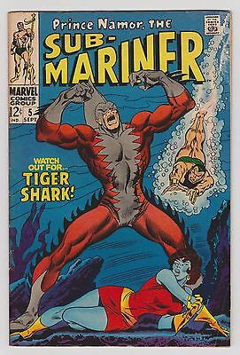 Sub Mariner (1968) # 5 1st Appearance of Tiger Shark VG or better