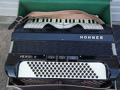 Piano Accordian Hohnor Verdi 11 Art Deco Design & Case