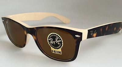 Genuine RAY-BAN 2132 New Wayfarer Replacement Lenses - G15 or Gradient Brown A/R