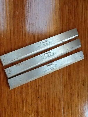 """Old Style Planner Blades 8"""". NEW Super Cut Double C. Thicknesses, Bench Planner"""