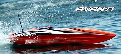 Thundertiger Avanti rc boat brushless rtr Blue in colour.