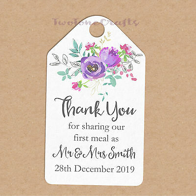 Personalised Wedding Gift//Favour Tags-Luggage Label//Floral FL009