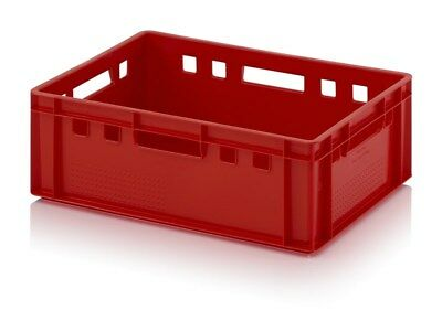 Euro Containers E2 60x40x20 Red Plastic Box Plastic Crate Catering Box Food