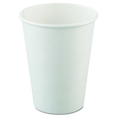 SOLO 412WN-2050 Single-Sided Poly Paper Hot Cup 12 oz. Capacity White (Pac of...