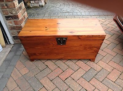 Wooden Chest Box, Coffee table  Width 96cm depth 45cm, height 45cm