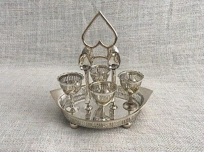 Vintage Electro Plated Egg Cup Holders StandM&CO
