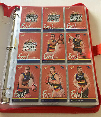 2016 Select Footy Stars Excel Complete set of 220 cards with folder