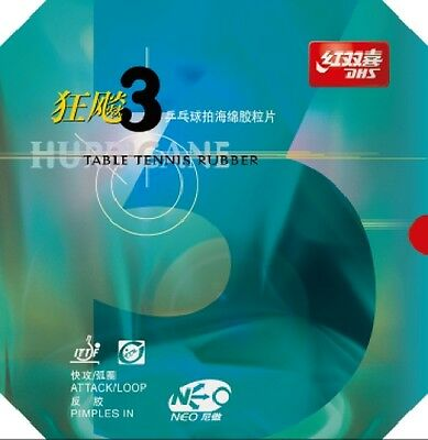 DHS NEO Hurricane 3 Table Tennis Rubber (Clearance Sale)