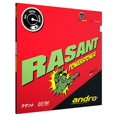 Andro Rasant Powersponge Table Tennis Rubber (Clearance Sale)