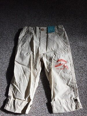 BNWT Boys Trousers 18 months Cream New With Tags