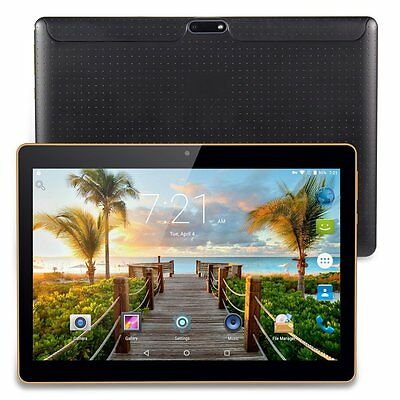 "10.1"" ANDROID 7.0 TABLET playstore PC 3G Dual SIM 16GB 8 CORE 2GB RAM GPS AUBK"