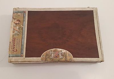 Antique vintage advertising cigar wood boxes Kingdom of Hungary 1920's 2 pcsRare