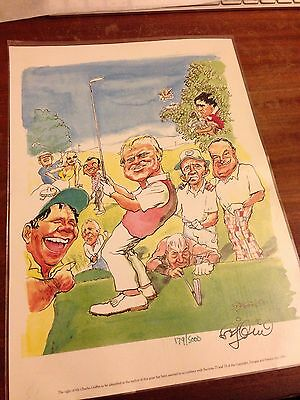 A4 Legends Of Golf Character Print feat Arnold Palmer