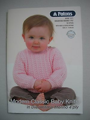 Patons Pattern Book 1271 - Modern Classic Baby Knits - 4ply Baby Knitting