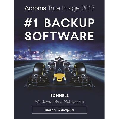 Acronis True Image 2017 3 PC Backup & Recovery / Dauerlizenz / Deutsch / KEY