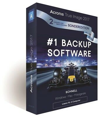 Acronis True Image 2017 2-PC - Backup - Windows / MAC / Android  -  Box