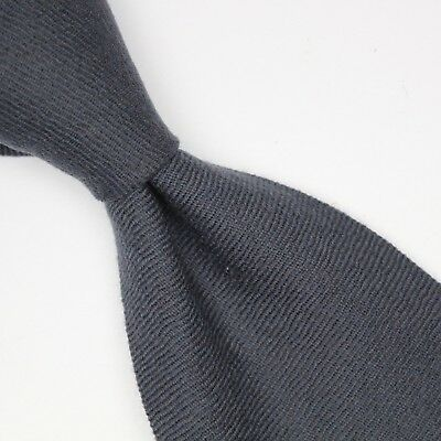 NEW Atmosphere Cashmere Wool Necktie Solid Gray Twill Soft Woven Weave Italy