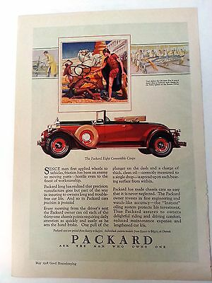 Packard Eight 1928 Convertible Coupe Ad